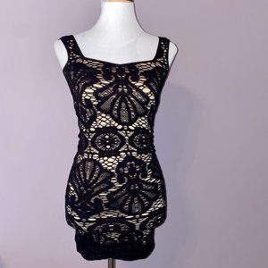 Intimately Free People | lace Bodycon Black dress